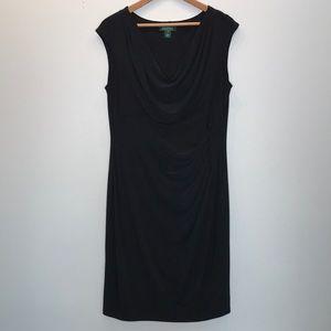 Lauren Ralph Lauren Black Plus Size Dress 16